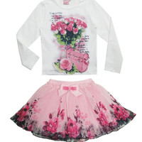 Long Sleeve Floral Outfit
