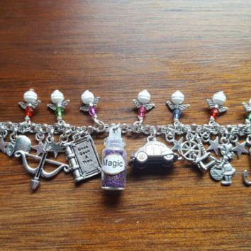 Once upon a time magic inspired charm bracelet