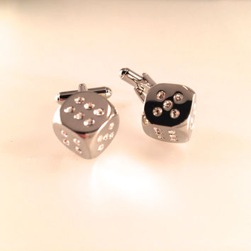 Roll the Dice Cuff Links, Men's Cuff Links, Wedding Cuff Links, Father's Day Cuff Links, Graduation Gift