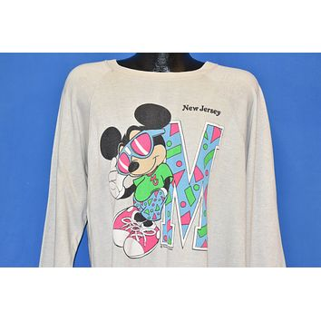 80s Mickey Mouse New Jersey Tourist Sweatshirt Extra Large