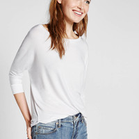 express one eleven cocoon wedge tee