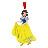 disney parks princess snow white glitter resin christmas ornament new with tag