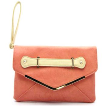 Bellini Coral Envelope Clutch