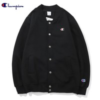 Champion Tide brand round neck small embroidery embroidery logo snap baseball uniform sweater