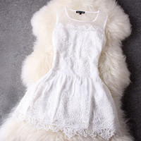 White Lace Dress #107