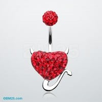 Devil's Heart Tiffany Inspired Belly Button Ring