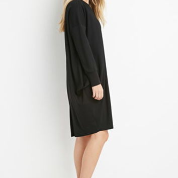 Inverted-Pleat Cocoon Dress