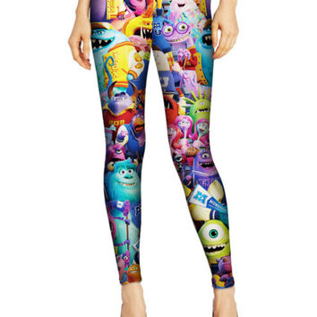 Disney Cartoon Printed Pattern Leggings