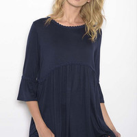 Cruz Knit Tunic - Navy