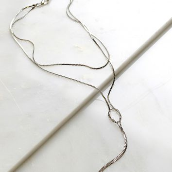 Knot About It Chain Necklace Silver