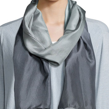 Ionosphere Cashmere/Wool Shibori Scarf, Size: ONE SIZE, MOON - Eileen Fisher