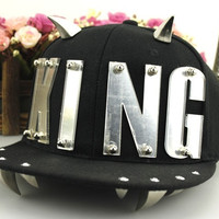 2015 New Fashion Summer Style Design Punk Rivet Patch Hat For Unisex Hip Pop Hats Fashion Baseball Cap Snapback (Color: Black) = 1913379076