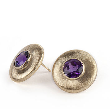 Helios Earrings Amethyst