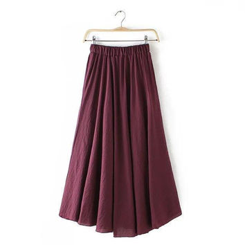 Women's Fashion Cotton Linen Pants [4920600580]