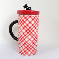 Scottie Dog Mug with Lid