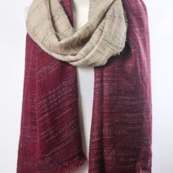 Beautiful Burgundy & Ivory Ombre Winter Long