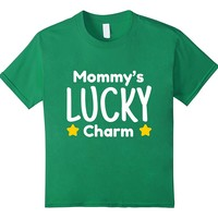 Kids Mommy's Lucky Charm Trendy Kid Shirt