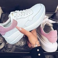 Alexander McQueen Trending Women Running Sports Shoes Sneakers Pink