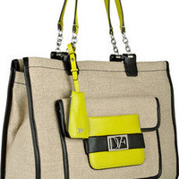 Diane von Furstenberg Lola canvas and leather tote – 55% at THE OUTNET.COM