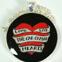 Fall Out Boy FOB Car Crash Hearts Pendant