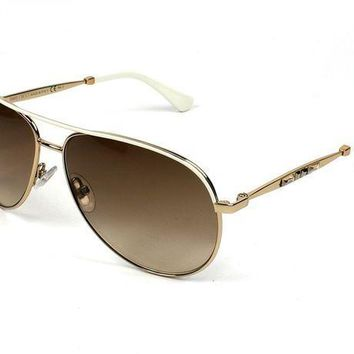 PEAPGQ6 Jimmy Choo Jewly/s Gold Sunglasses