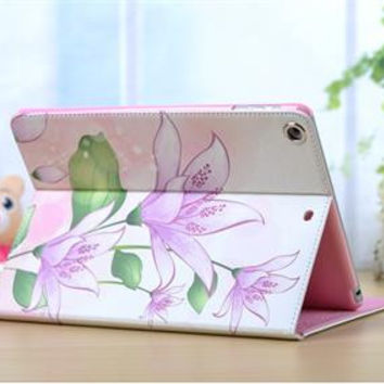 iPad Air 2  - Pastel Floral Pattern, Slim Magnetic Case in Assorted Styles