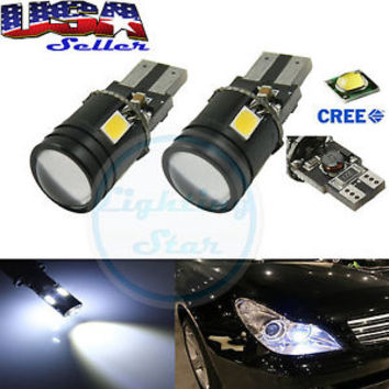HID White 9W Cree Error Free LED Bulbs For European Car Parking Eyelid Lights