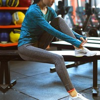 New style  High Waist Stretched Women's Sports Pants Gym Clothes Spandex Running Tights Women Sports Leggings Fitness Yoga Pants