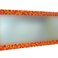Mosaic Mirror - Red, Orange, Yellow - Made to Order