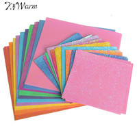 50Pcs Set Square Origami Paper Single Sided Solid Color Shining Papers DIY Kids Folded Paper Craft Scrapbooking Decor 15 10cm