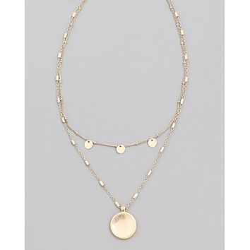 Dainty Disc  Layer Necklace