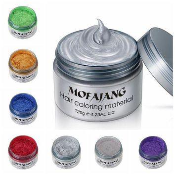 ac DCCKO2Q Harajuku Style Styling Products Hair Color Wax Dye One-time Molding Paste Seven Colors Hair Dye Wax maquillaje Make up