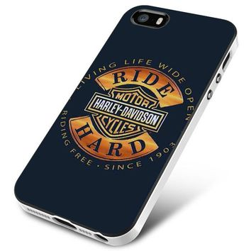 Harley Davidson Motorcycles Ride Hard Since iPhone 5 | 5S | 5SE Case Planetscase.com
