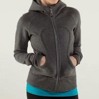 ONETOW Lululemon Solid Color Casual Sports Running Cardigan Jacket Coat