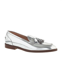 J.Crew Womens Biella Metallic Tassel Loafers