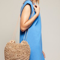 Free People Sunshine Straw Crossbody