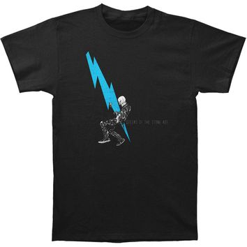 Queens Of The Stone Age Men's  Lightning Dude Slim Fit T-shirt Black