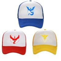 Pokemon Go Teams Valor Mystic Instinct Baseball Snapback Hat
