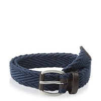 Ben Sherman Men's Herringbone Webbing And Leather Belt at MYHABIT