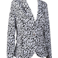 Leopard Suit Long Sleeve Blazer * free shipping
