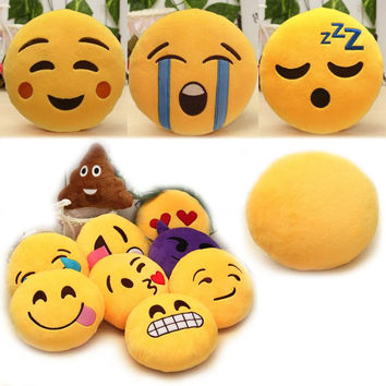 Fashion 6 Inch Lovely Emoji Smiley Emoticon Pillows Cushion Soft Stuffed Plush Cute Cartoon Toy Doll 12 Styles Christmas Y1 S2
