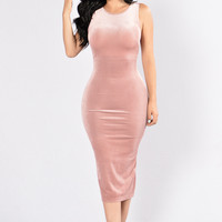 Soft Hearted Dress - Mauve