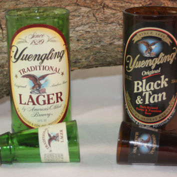 Yuengling Gift Set, Yuengling Shot Glass, Yuengling Drinking Glass, Upcycled Beer Bottle