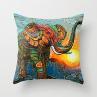 Elephant's Dream Throw Pillow by Waelad Akadan