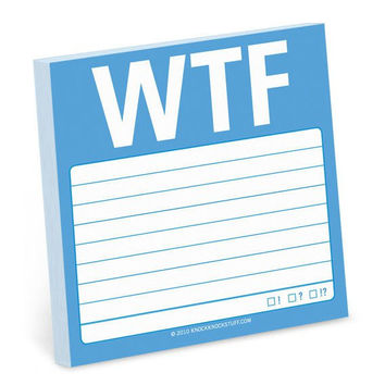 WTF Sticky Notes in Blue