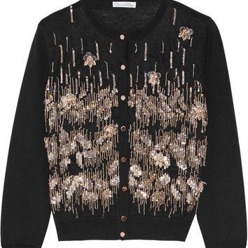 Embellished wool cardigan | Oscar de la Renta | US | THE OUTNET