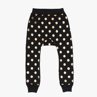 Beau Loves Gold Dots Davenport Pants in Inky Black