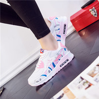 Fashion Casual Multicolor Print Thick Bottom Air Cushion Sneakers Women Running Shoes