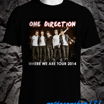 one direction shirt where we tour 2014 shirt t shirt 1d unisex 2 side