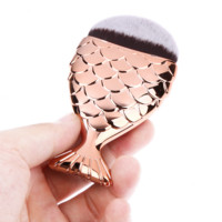 Maquiagem Foundation Contour Fish Brush Make Up Cosmetic Mermaid Brush